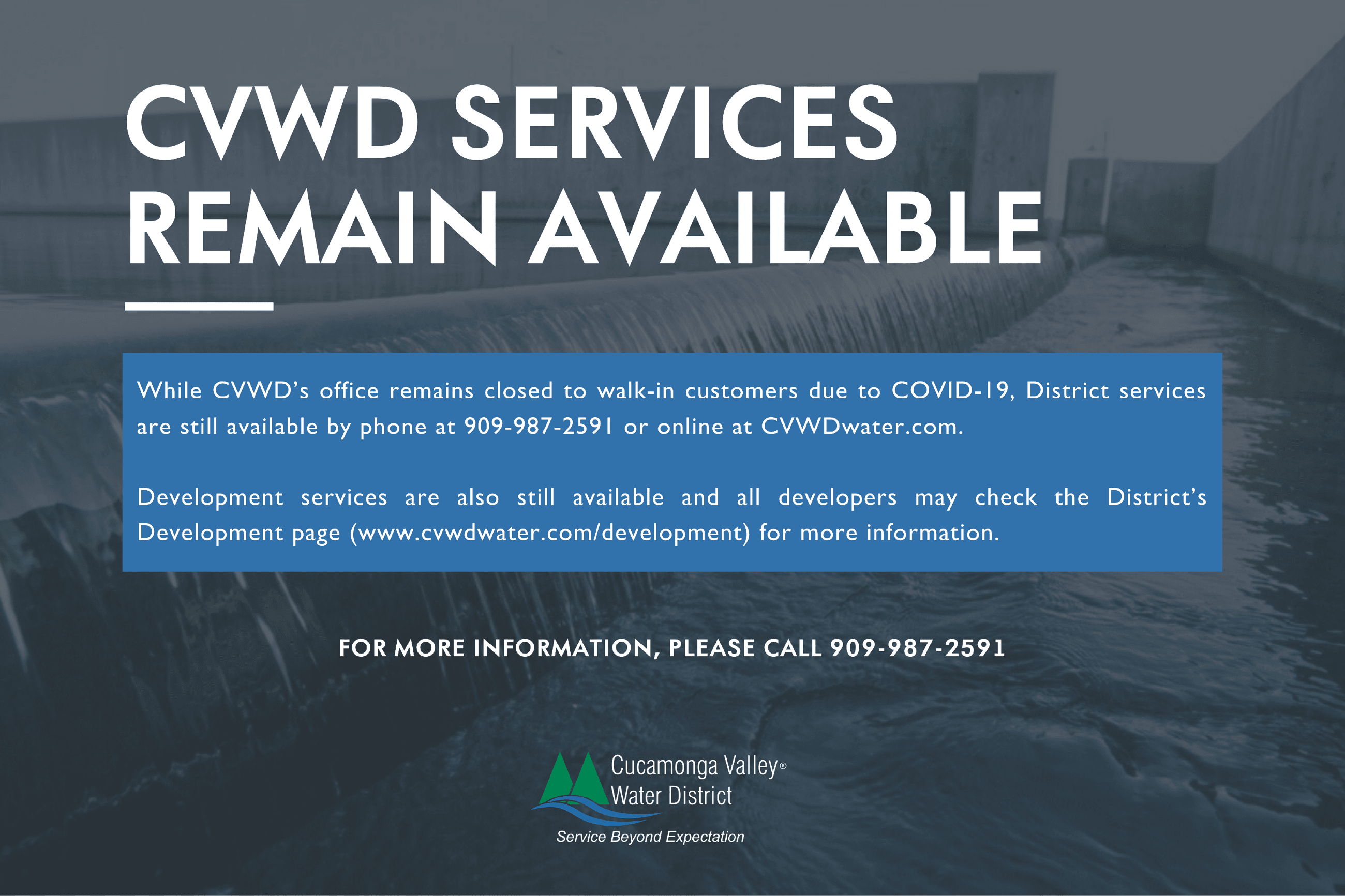 CVWD Services Remain Available